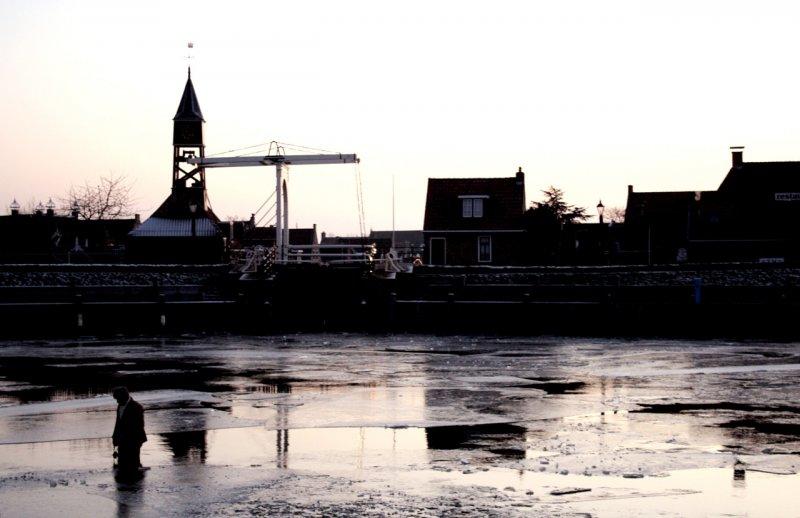 Winteravond in Friesland