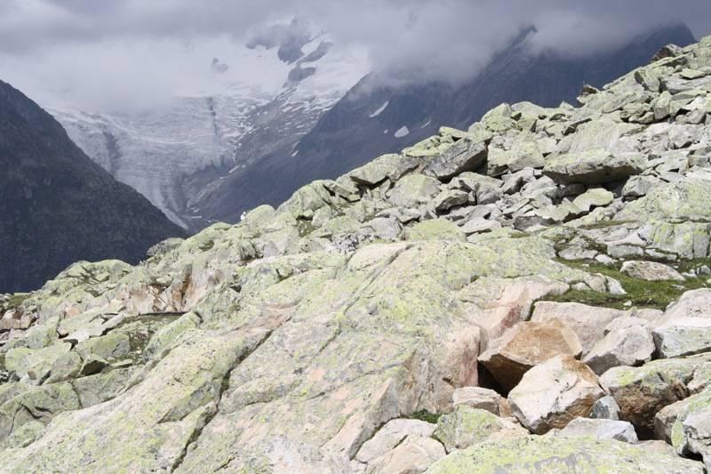 iBij de Aletschgletscher