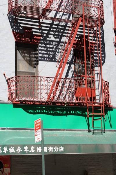 Balkon in China Town, Manhattan, New York
