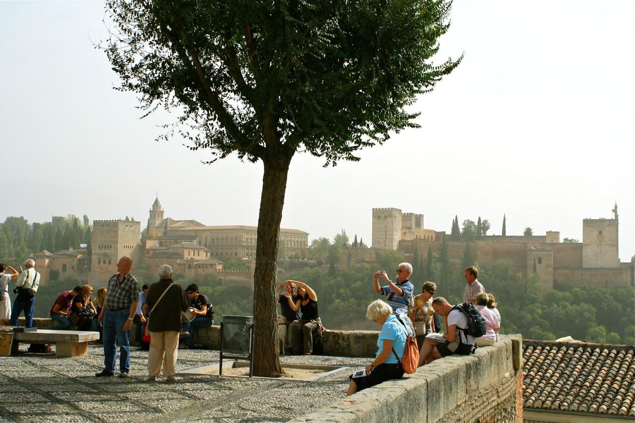 Blik op het Alhambra