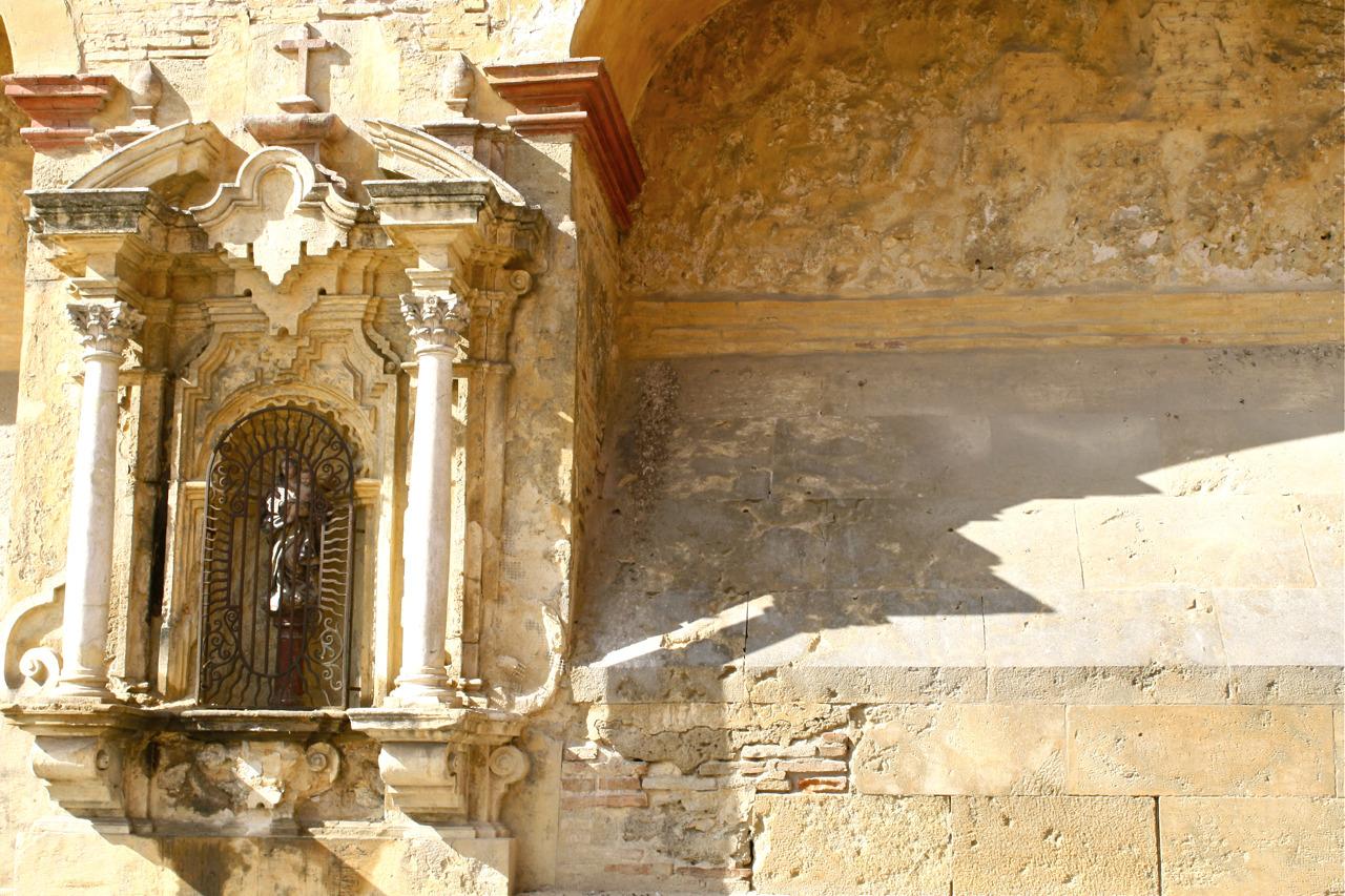 Kerkmuur in Córdoba